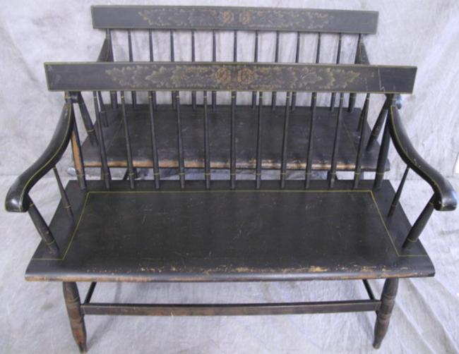Peachy Furniture Bench Black Hitchcock Spindle Back Benches At Ocoug Best Dining Table And Chair Ideas Images Ocougorg